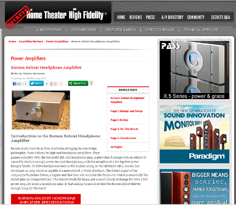 Burson Audio Soloist Review Secrets of Ноmе Theater and High Fidelity