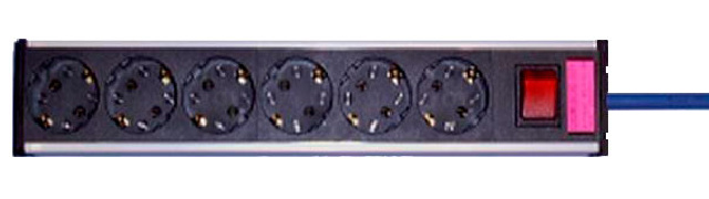 Serie 3 Power Strip 6 plastic 1.8m